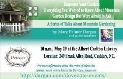 Join Mary Palmer on Thursday: A Talk on Mountain Garden Design