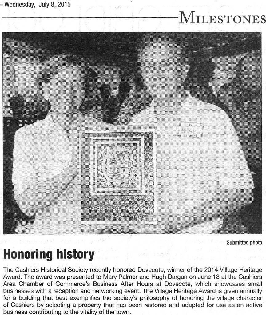 Village Heritage Award
