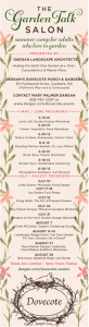 Dovecote in Cashiers – Our Weekly Garden Talk Schedule