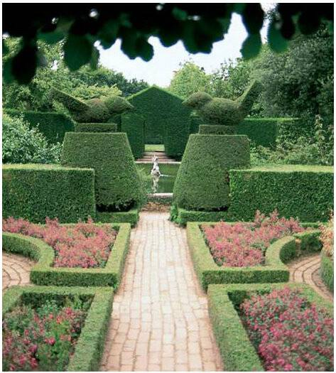 A garden at Hidcote as seen in Timeless Landscape Design