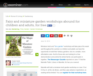 Fairy Garden Workshops
