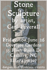 Atmospheric Sculpture Lecture Friday, June 26 10 am at Dovecote  CARL PEVERALL RETURNS!!!