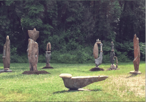 contemporary stonehenge Carl peverall sculpture